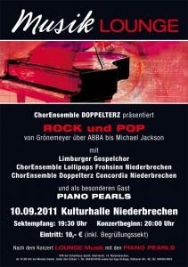 Plakat Konzert Doppelterz 2011