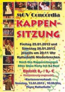 Plakat Kappensitzungen 2013