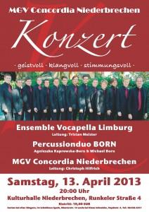 Plakat Jahreskonzert 2013