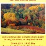 Volksliedersingen Herbst 2013