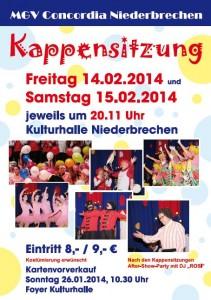 Plakat Kappensitzung 2014