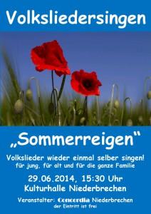 Volksliedersingen Sommer 2014