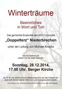 Konzert Doppelterz 2014