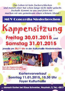 Flyer Kappensitzungen 2015