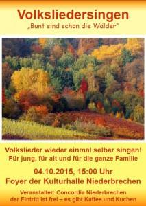 Volksliedersingen Herbst 2015