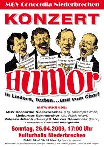 MGV Konzert 2009 - Plakat Druck.indd