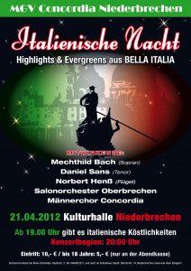 MGV Konzert 2012 - Plakat 04.indd