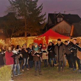 Adventsmarkt im herrlichen Hof Tilia mit Gesang von Doppelterz