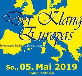 """Der Klang Europas"" zu hören am 05.05.2019 17 Uhr"